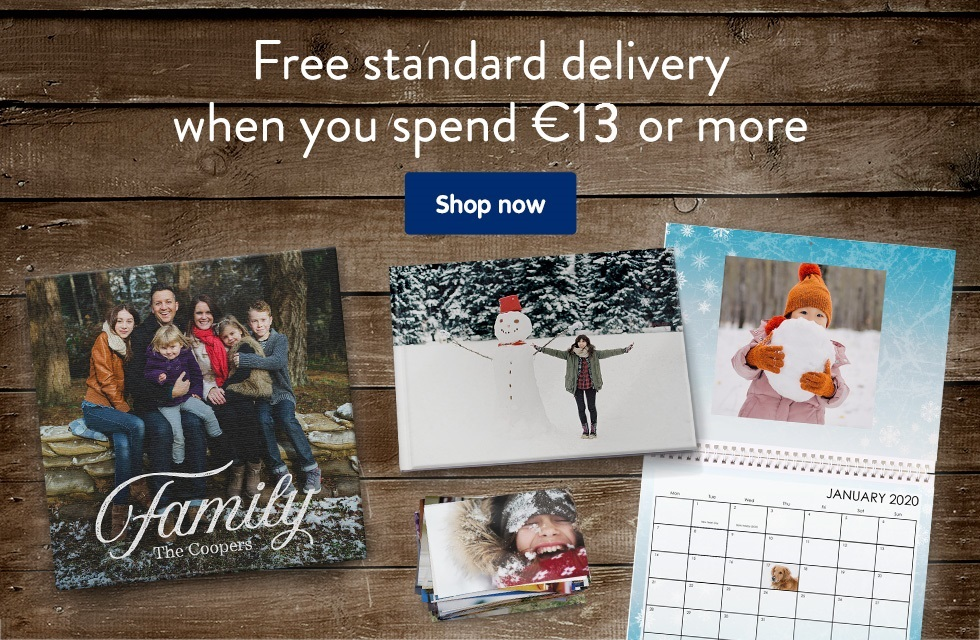 Free standard delivery when you spend €13 or more