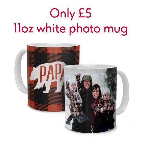Only £5 11oz white Photo Mug