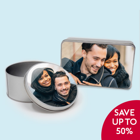 Save up to 1/2 price on photo gifts