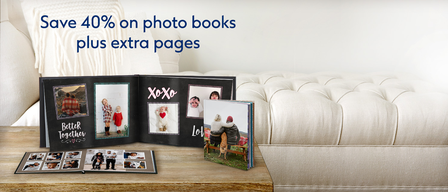 Save 40% on all Photo books