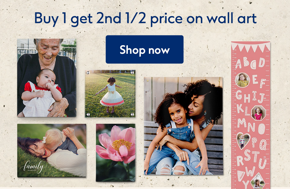 Buy 1 get 2nd 1/2 price on all wall art