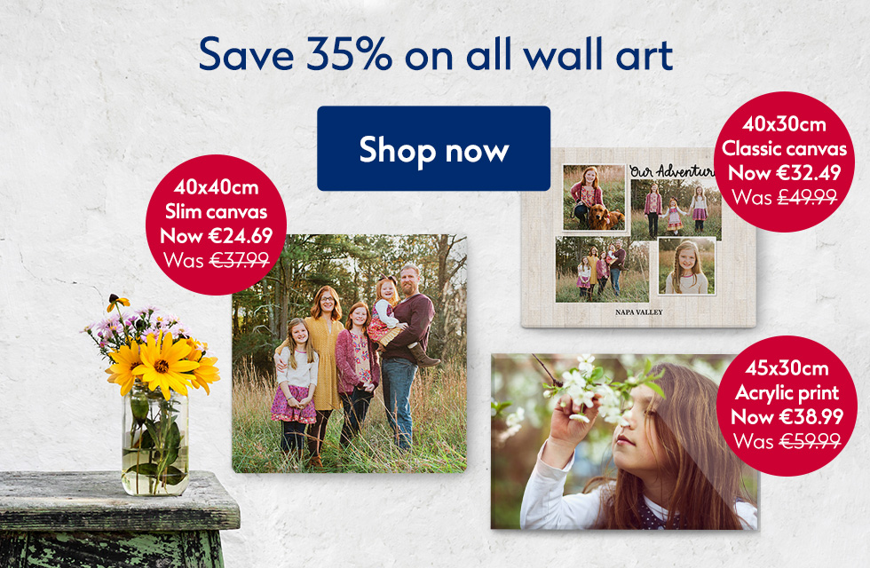 Save 35% on all wall art