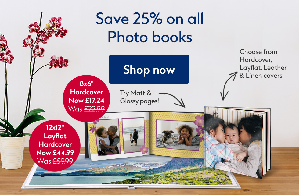 Save 25% on all photo books