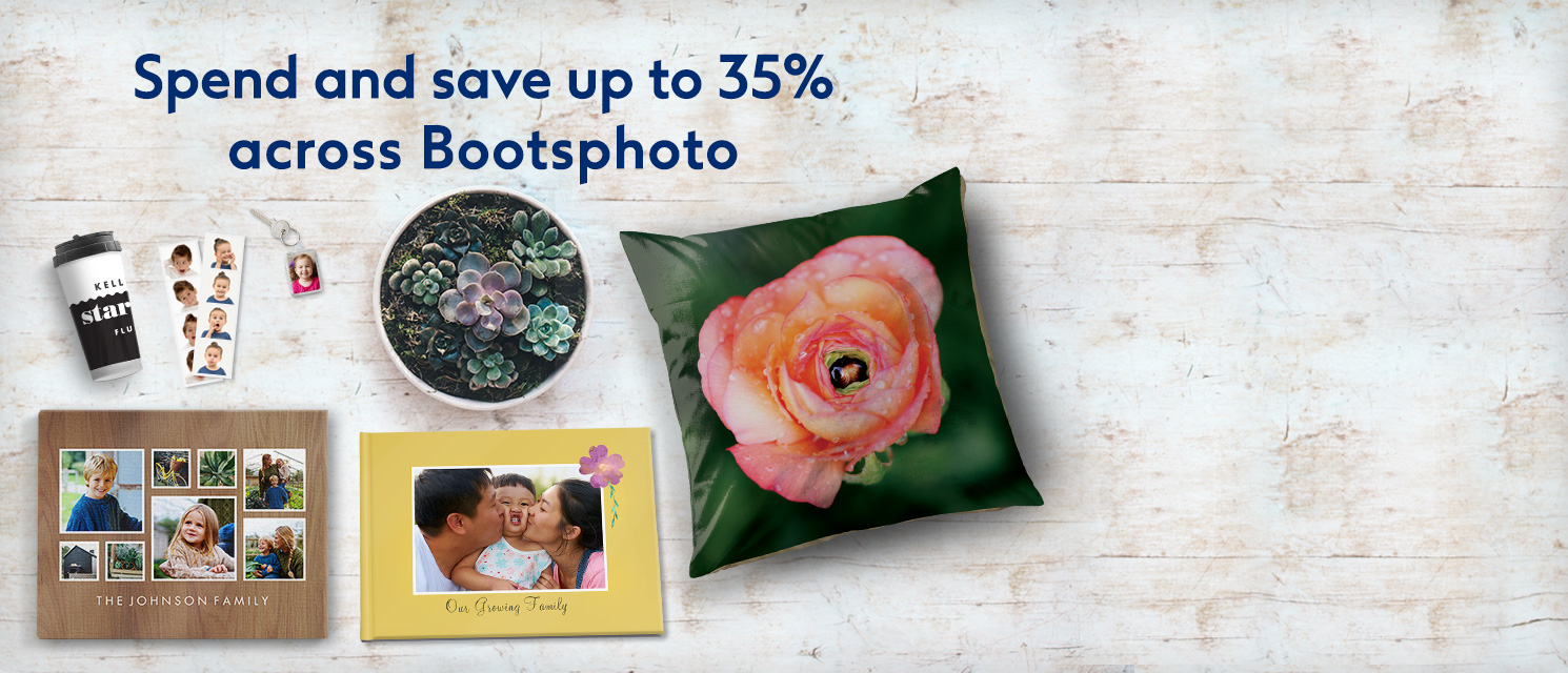 Spend and save up to 35% across bootsphoto.ie*