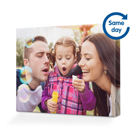 personalised photo canvases wall art boots photo