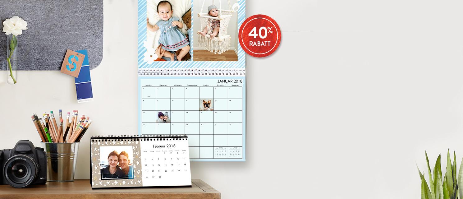 2018 steht kurz vor der Tür ... : 40% Rabatt auf Kalender Gutscheincode: WALL1117