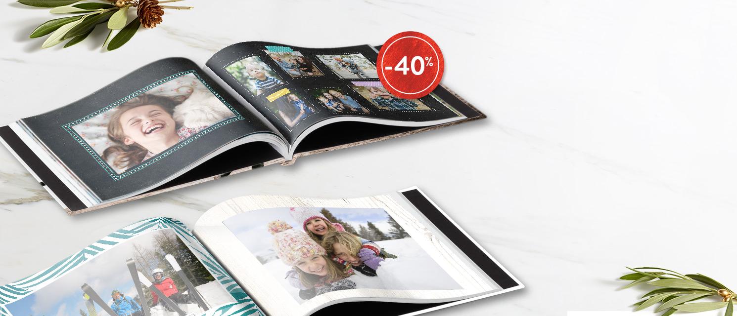Ecrivez votre histoire : -40% sur les Livres photoCode Promo : BOOK218