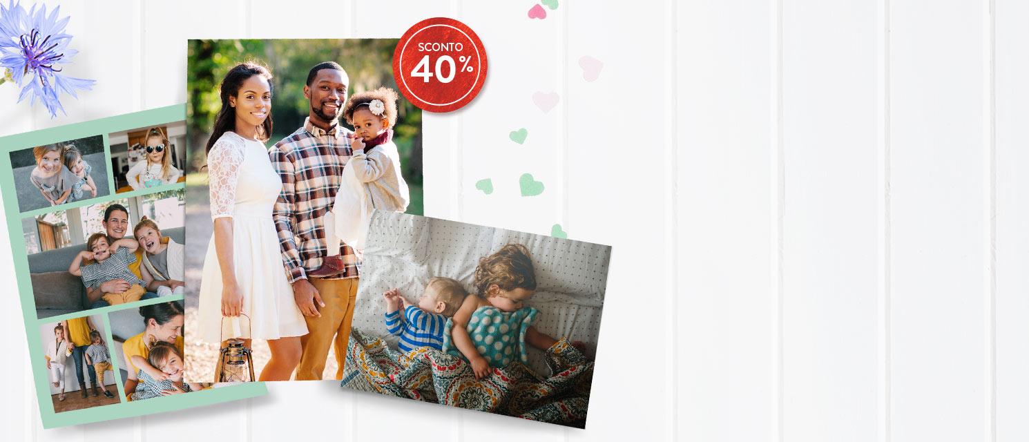 Stampa i tuoi ricordi più belli : -40% su tutte le Stampe Codice:PRINT418