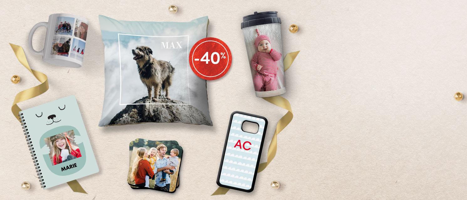 Offre Flash : -40% sur les Mugs et Cadeaux Photo  Pas de code nécessaire*