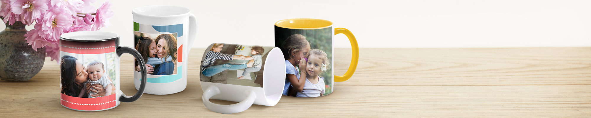 Mugs personnalisés Parfaits pour déguster un café de bon matin, notre gamme de mugs personnalisés sont des cadeaux mignons à offrir à ceux que vous aimez.