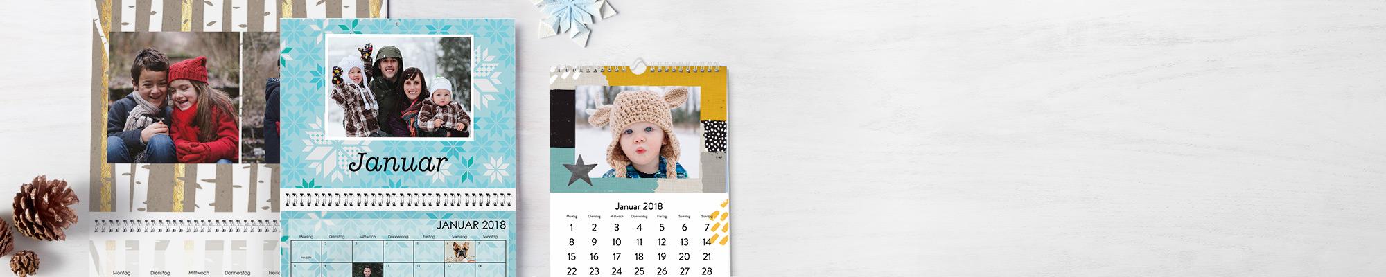 Individuelle Kalender 2018 Genießen Sie 365 Tage Ihre Lieblingsfotos mit Ihrem persönlichen Kalender samt neuer Schriftarten, Designs und Hintergründen.