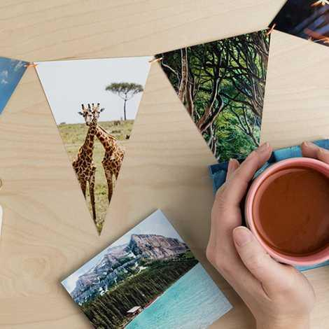Photo Coasters,Photo Banner,Cement Letter Photo Holders DIY print display blog
