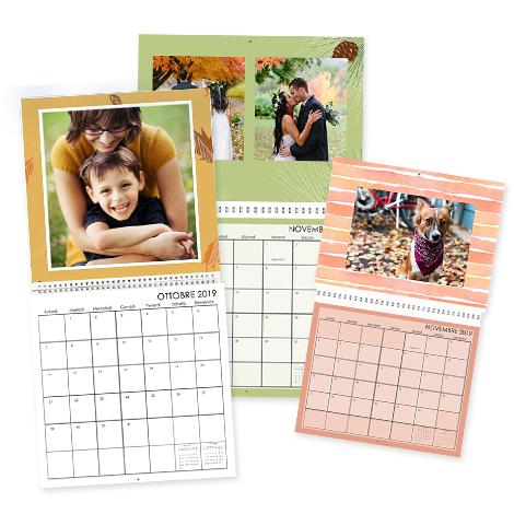 Crea e stampa foto calendari e calendari personalizzati snapfish - Calendario da tavolo con foto proprie ...
