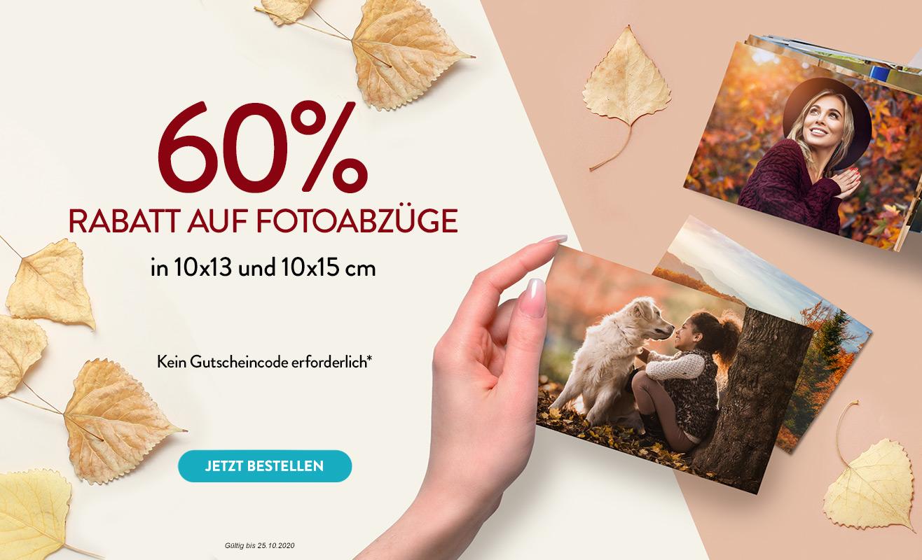 60% Rabatt auf Fotoabzüge