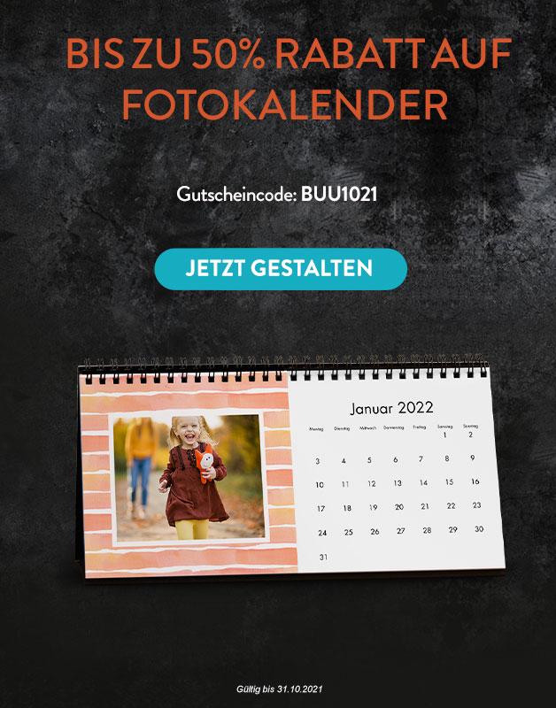 Bis zu 50% Rabatt auf Fotokalenders