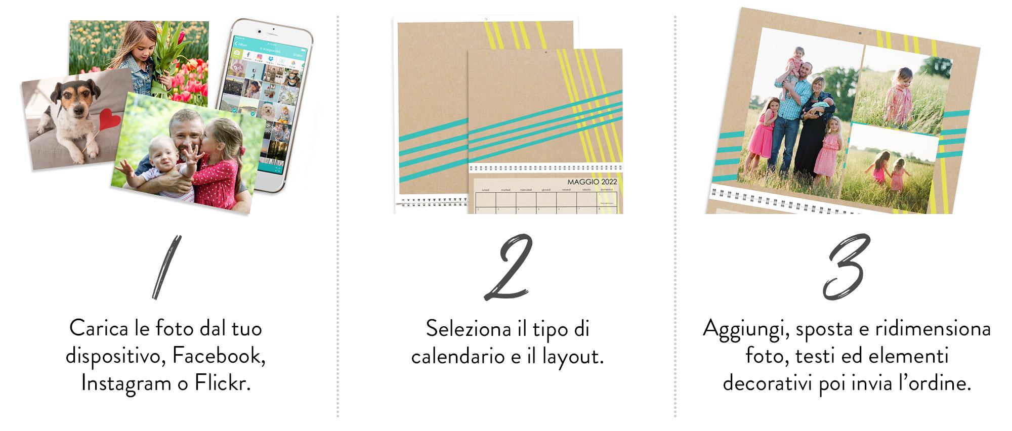 Crea il tuo fotocalendario in 3 semplici STEP