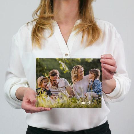 fotolibro in formato 15x20 panoramico con famiglia
