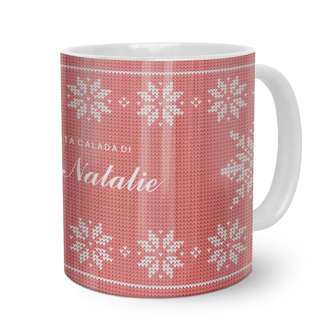 Tazza personalizzata design di Natale