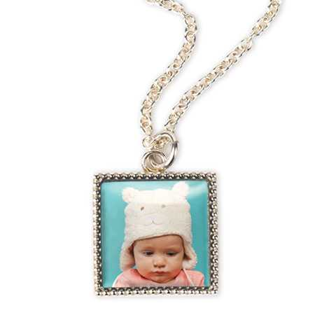 Icon Silverplate Photo Necklace