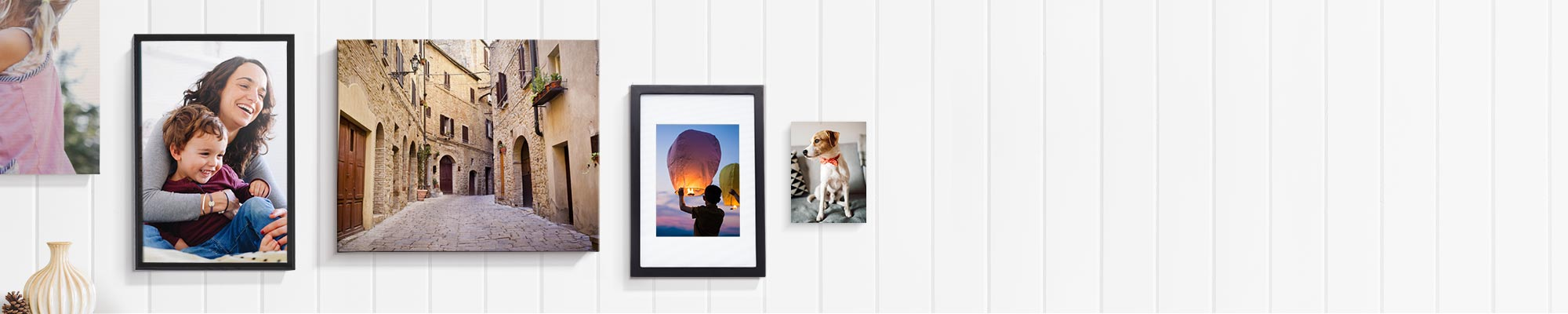 Canvas + Home Decor Instill your most cherished memories in a quality wall hanging or framed print, for all to admire.