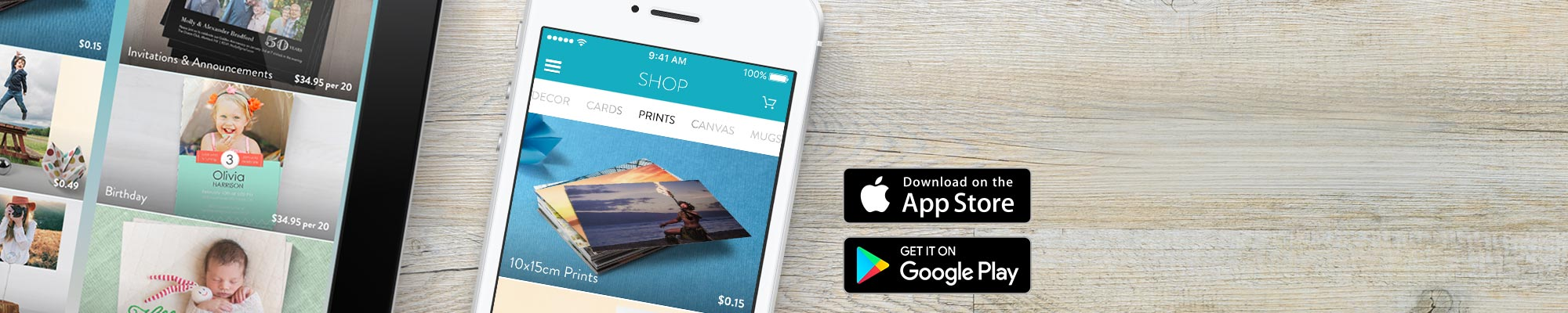 Snapfish App Order on the go with our appfor iPhone, iPad and Android.