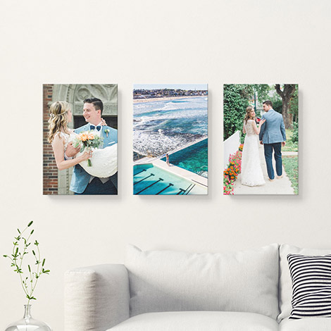 A selection of Canvas Prints displayed on a wall