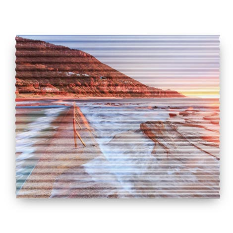 81x100cm Corrugated Iron Print