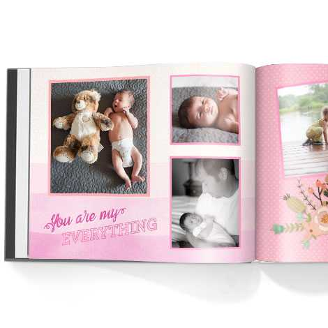 Photo book. Watercolour Memories theme