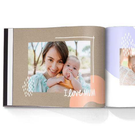 Photo book. Organic shapes theme