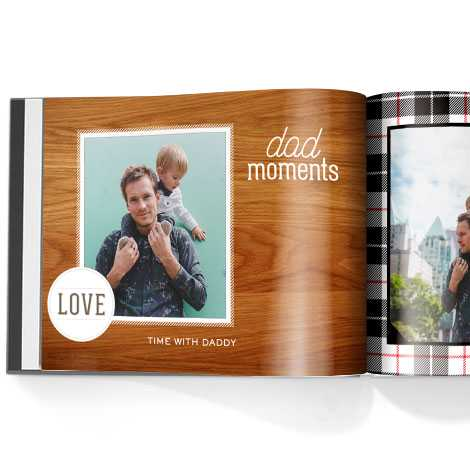 Photo book. Family man theme