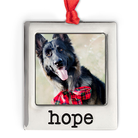 Icon Silver Plate Hope Photo Ornament