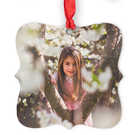 Icon Aluminum Square Photo Ornament