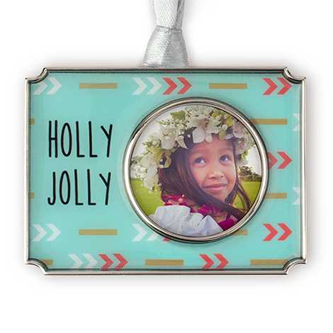 Icon Holly Jolly Photo Ornament