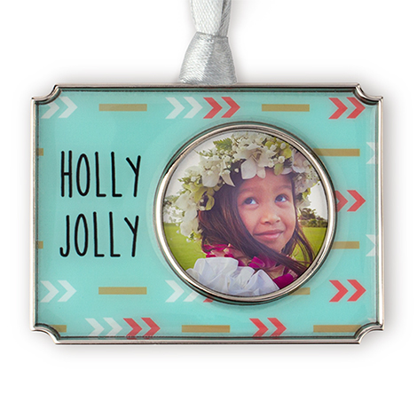 Holly Jolly Photo Ornament