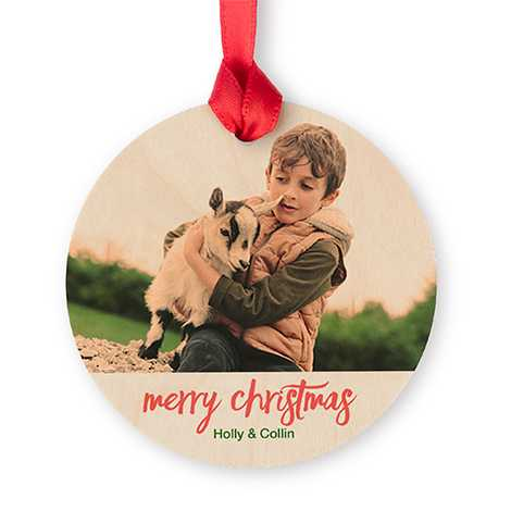 Maple Round Photo Ornament