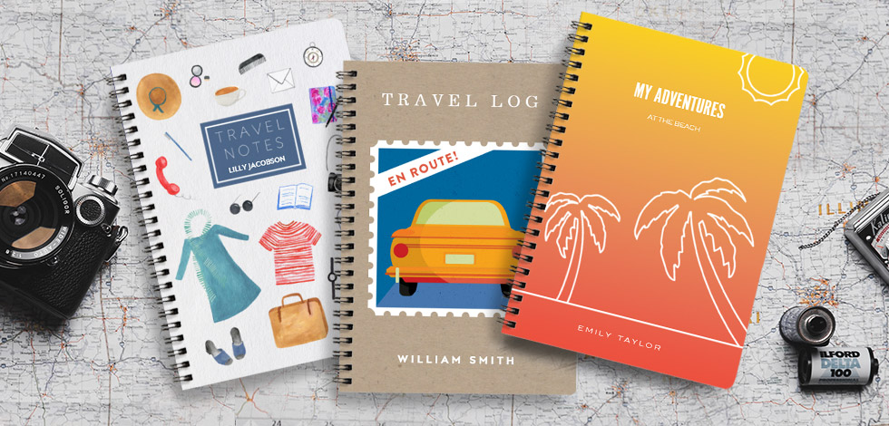 A selection of travel notebooks