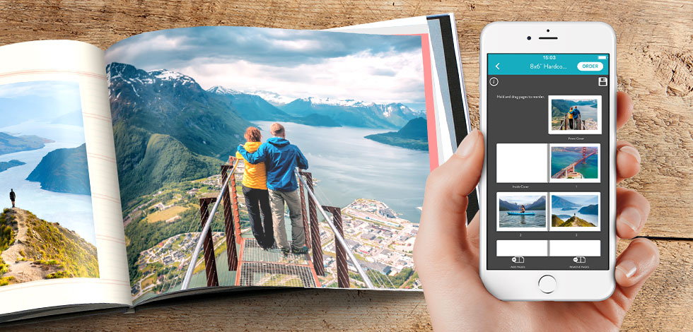 Make your photo book on your mobile phone