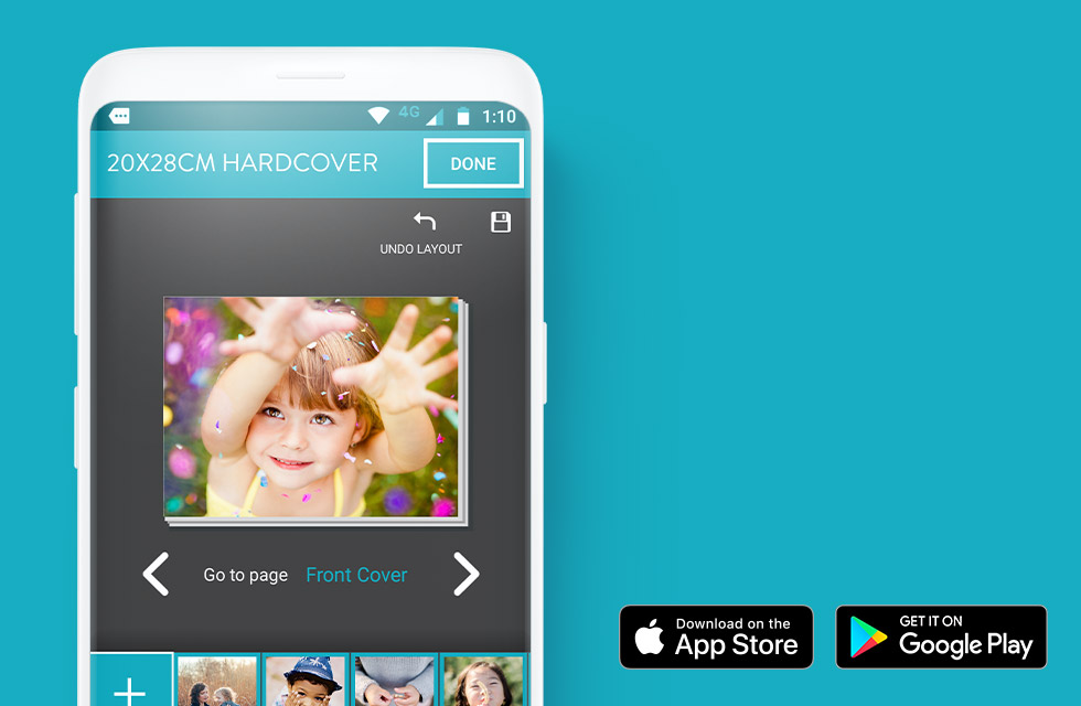 Create a photo book on the go with the Snapfish mobile app