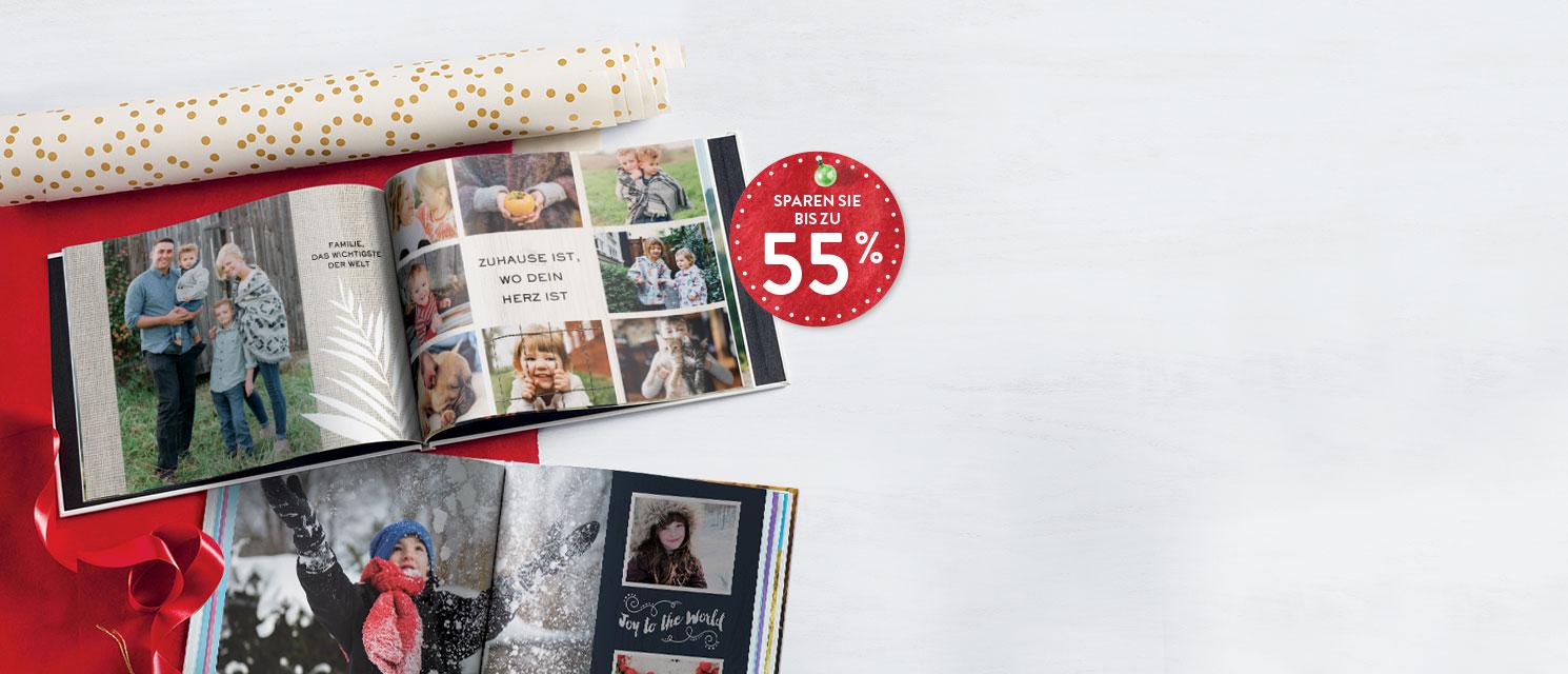Fotobücher : Bis zu 55% Rabatt auf Fotobücher  Perfekt, um Erinnerungen und besondere Momente festzuhalten