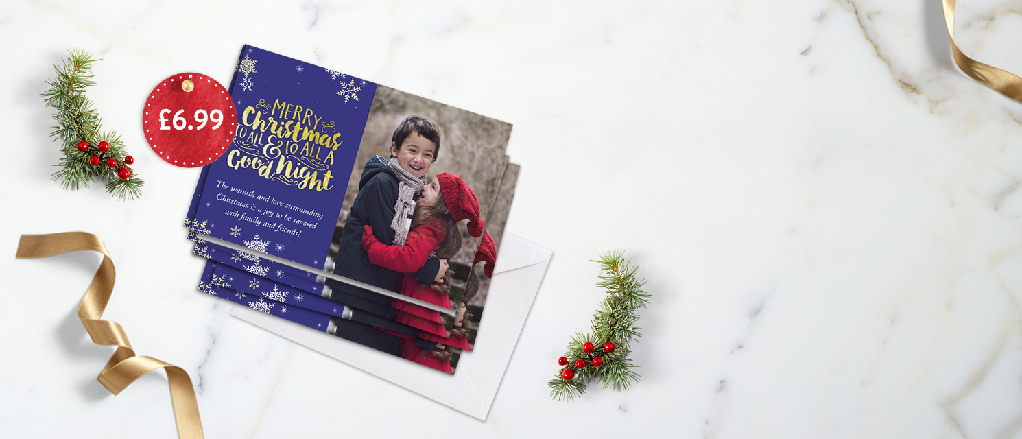 "Cards for Christmas : Buy 10 7x5"" folded cards for £6.99. Use code 10CARDS by 20th December 2016"