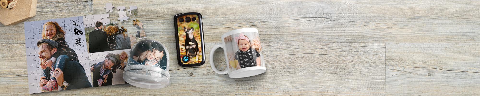 Personalisierte Fotogeschenke : Überraschen Sie mit einzigartigen Geschenken.