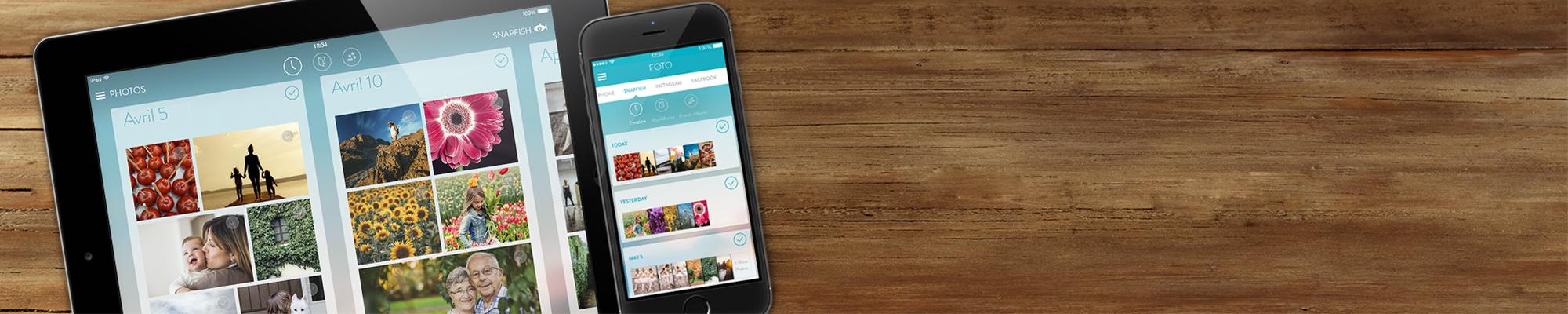 Application Snapfish Consultez, téléchargez, partagez et commandez vos tirages depuis votre mobile !
