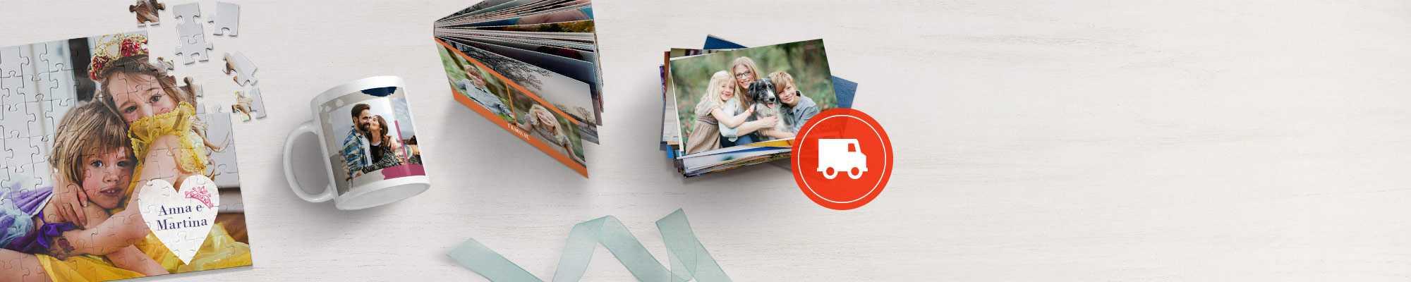 puzzle fotografico, tazza personalizzata, fotolibro standard e stampe fotografiche di alta qualità solo su Snapfish