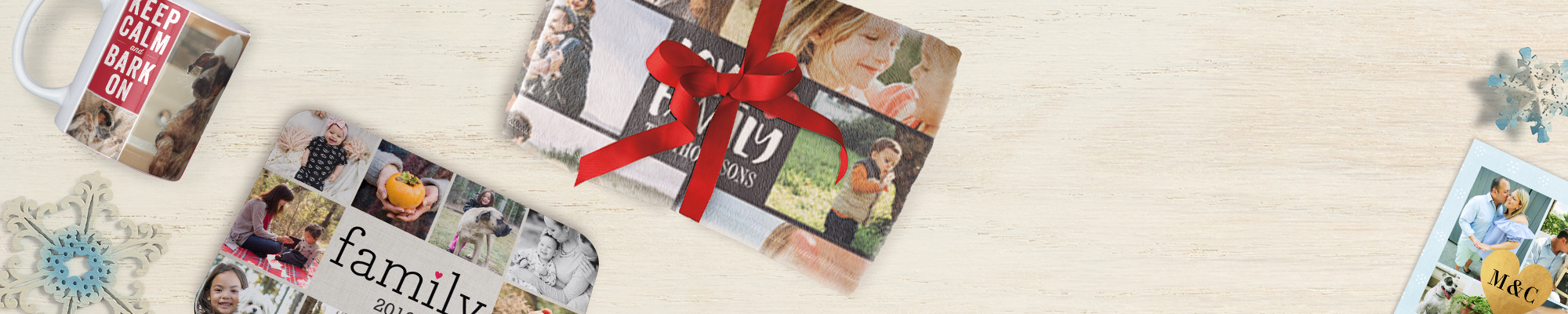 Collage Photo Gifts : Make every photo count and create amazing collage prints, blankets, mousepads, and more!