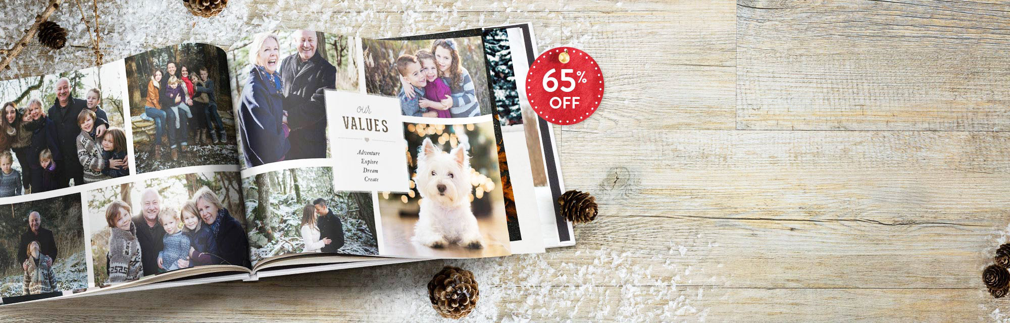 "Photo book bonanza : Get an incredible 65% off our 11x8"" hardcover book with 100 pages. Use code: BEST316. Offer ends 20/12/2016."