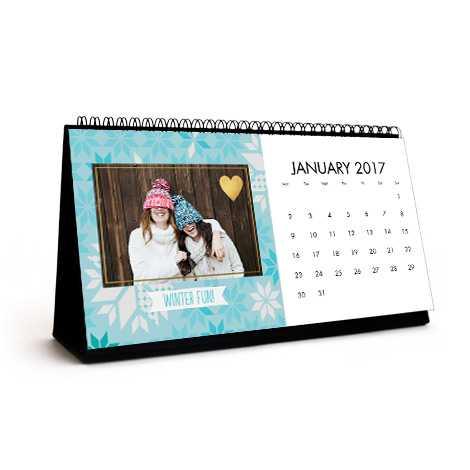 Personalised Photo Desk Calendar