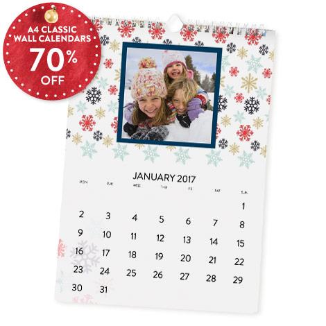 70% off A4 Classic Calendar
