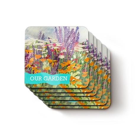 Set of 6 Personalised Photo Coasters