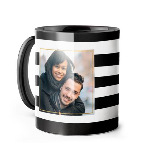 Color Accent Coffee Mug, Black