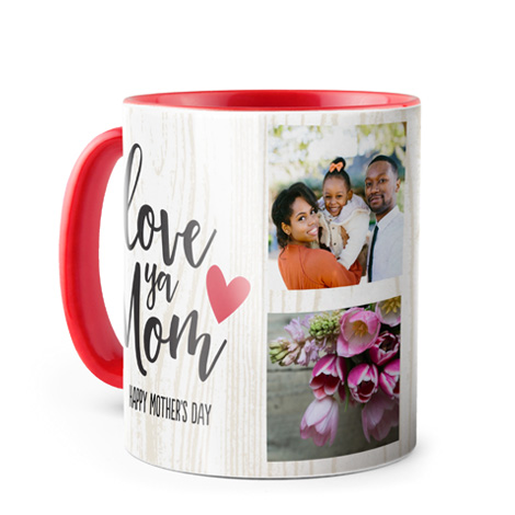Photo Coffee Mug, 11oz., Red